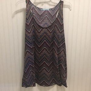 Maurices chevron print knit sleeveless blouse